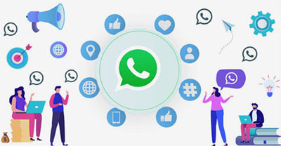 ارسال پیام در واتساپ